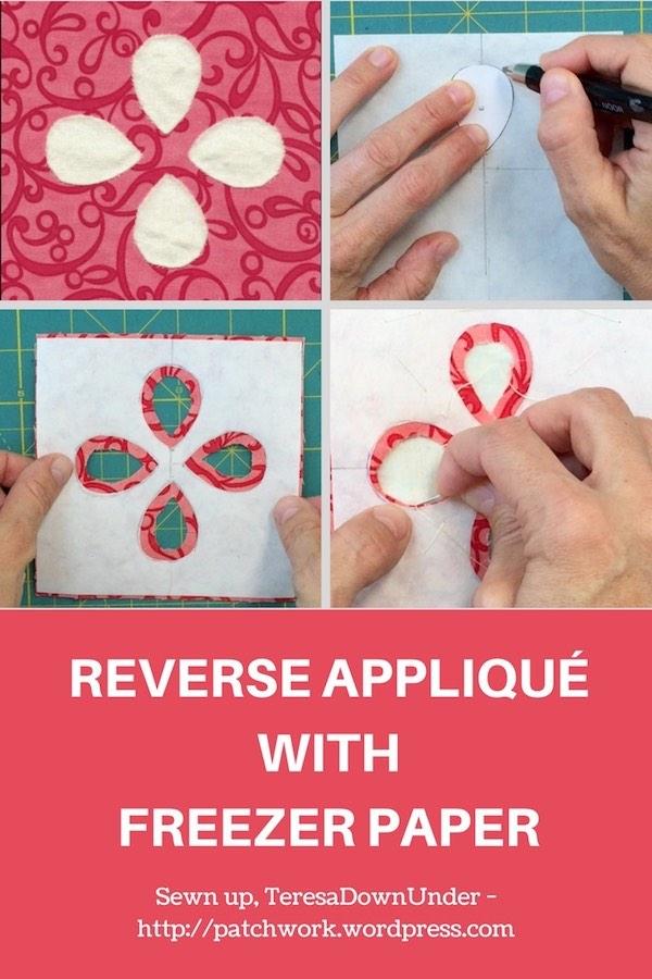 Reverse applique with freezer paper - video tutorial