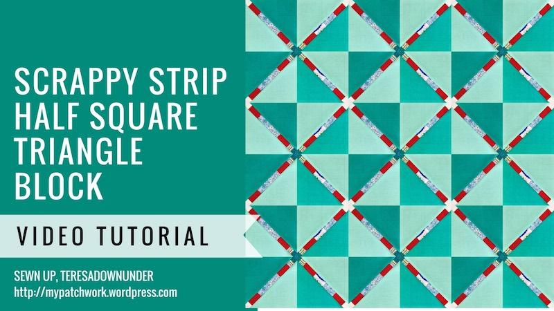 Scrappy strip half square triangle video tutorial