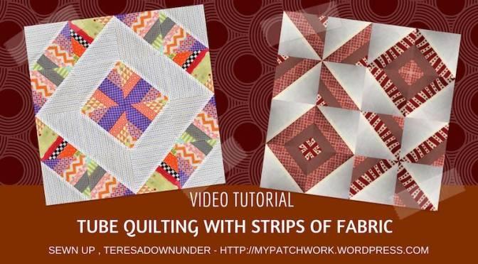 2 strip blocks using tube quilting techniques – video tutorial