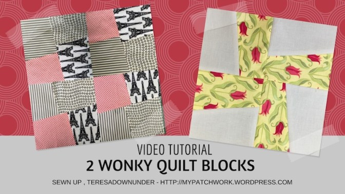 Two wonky quilt blocks video tutorial