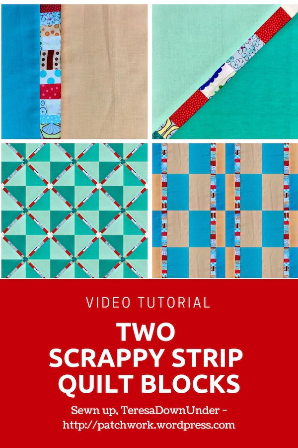 Scrappy strip block 2 ways video tutorial