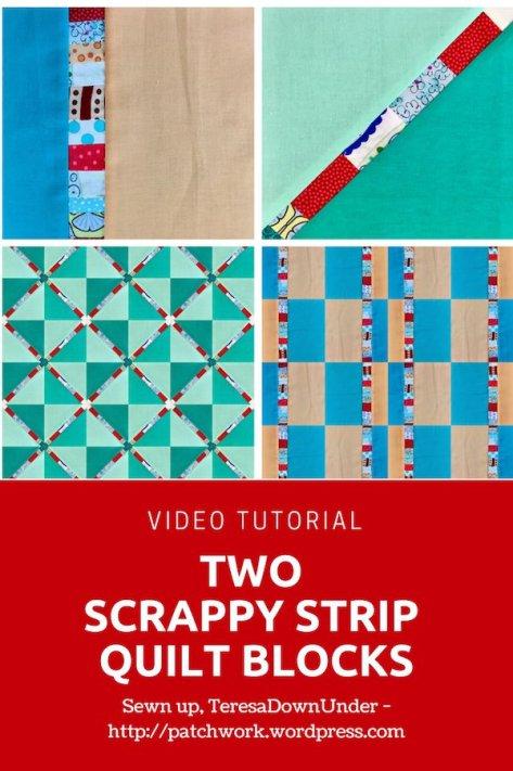 Scrappy strip block 2 ways video tutorial