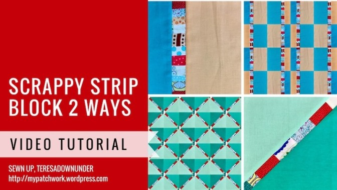 Video tutorial: Scrappy strip block 2 ways