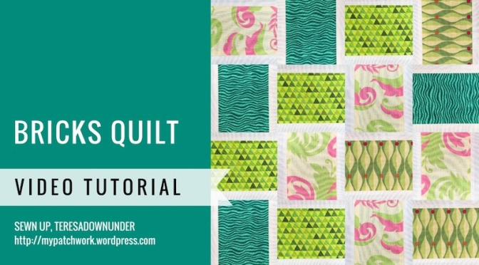 Bricks quilt video tutorial