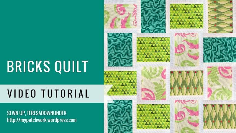 Bricks quilt video tutorial