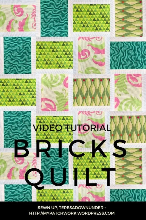 Bricks quilt bock video tutorial