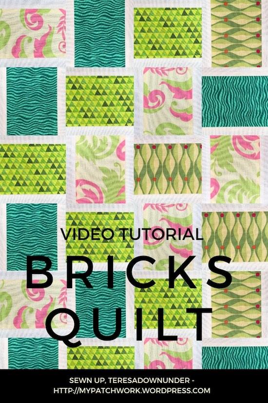 Bricks quilt bock video tutorial