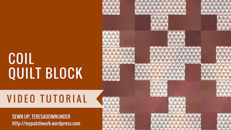 Coil quilt block video tutorial