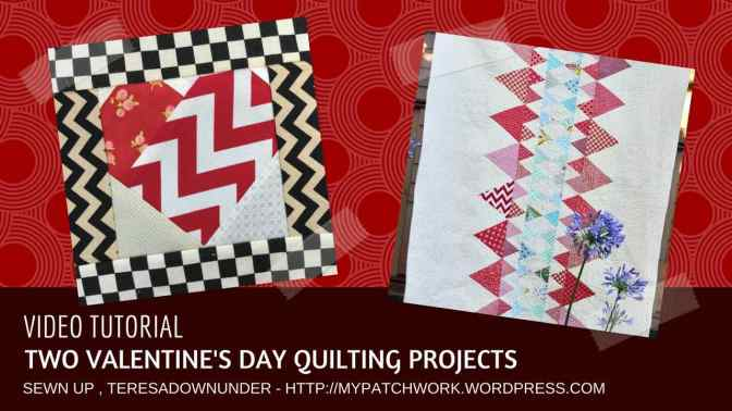 Video tutorial: 2 Valentine's Day quilting projects