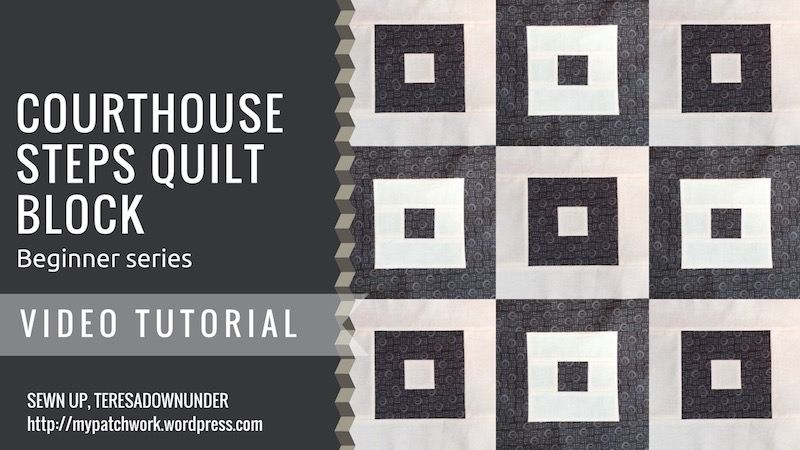 Courthouse steps quilt block video tutorial