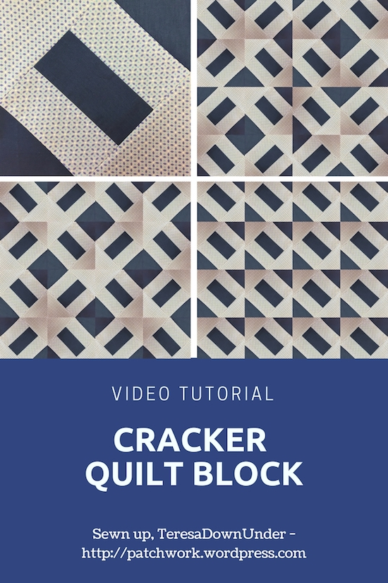 Cracker quilt block video tutorial