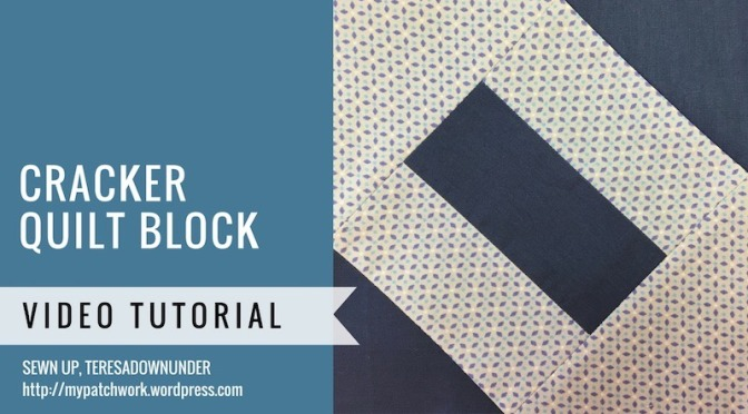 Cracker quilt block video tutorial