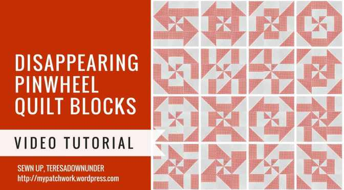 Video tutorial: Disappearing pinwheel quilt block variations