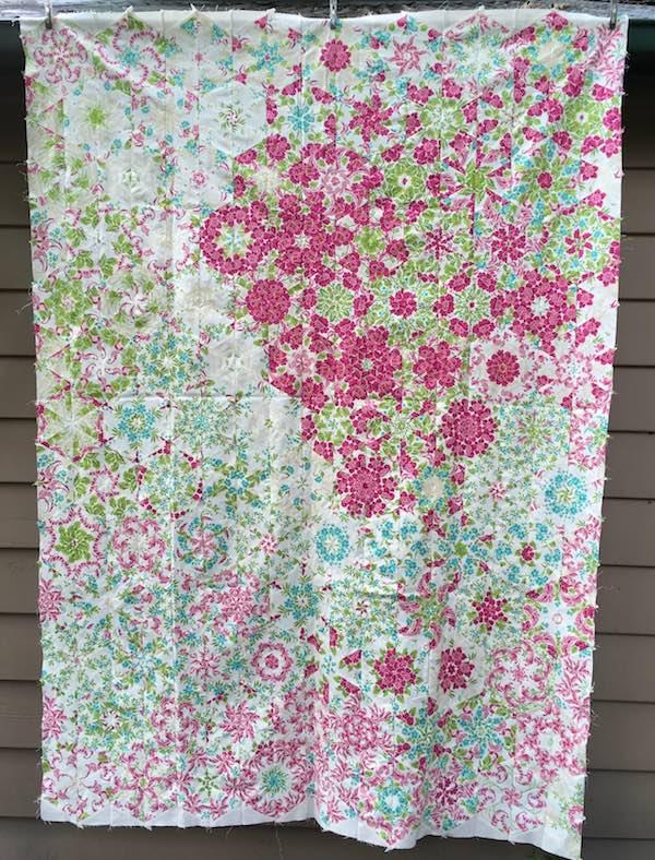 Floral kaleidoscope quilt - video tutorial