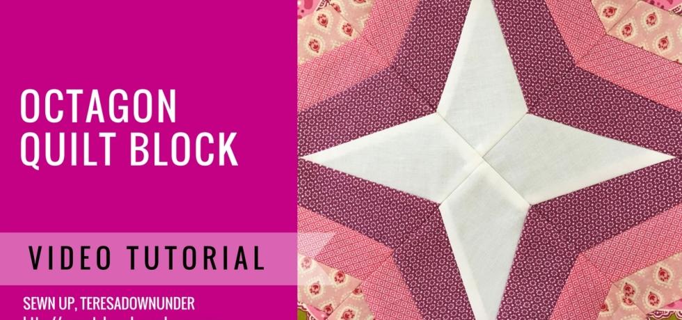 Video tutorial: octagon quilt block - easy foundation piecing