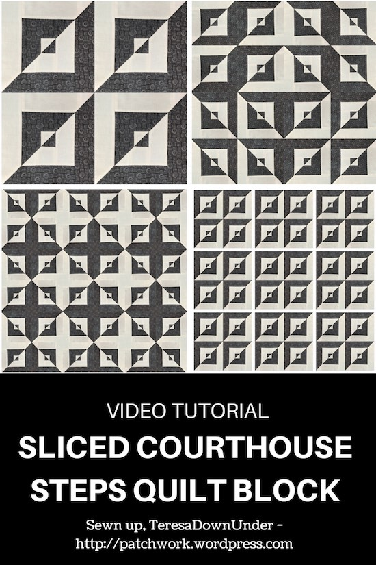 Sliced courthouse steps quilt bock video tutorial