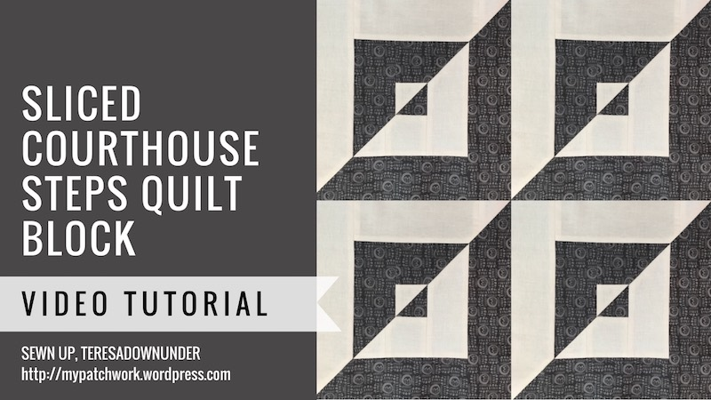 Sliced courthouse steps quilt blok video tutorial