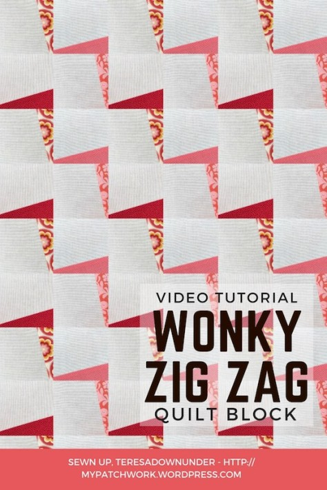 Wonky zig zag quilt block video tutorial