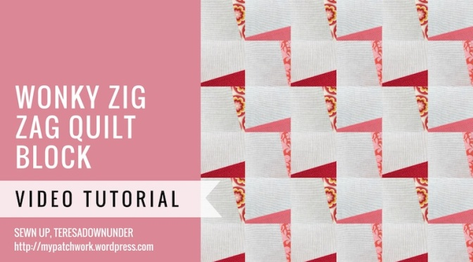 Wonky zig zag quilt video tutorial