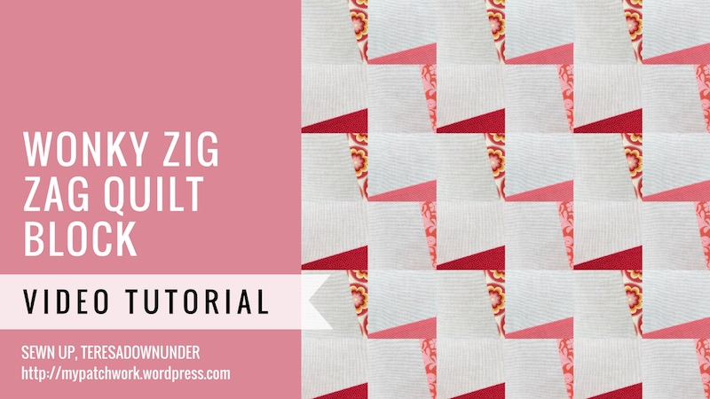 Wonky zig zag quilt block video tutorial
