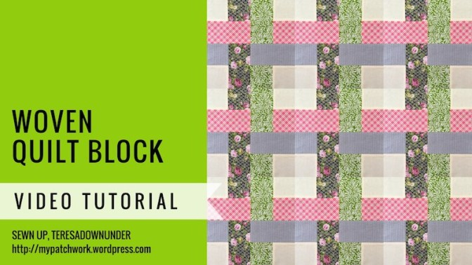Woven quilt block video tutorial