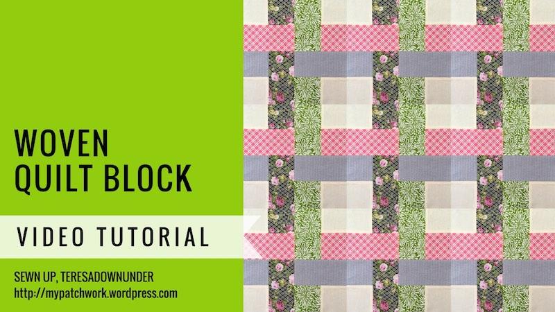 Woven quilt block video tutorial
