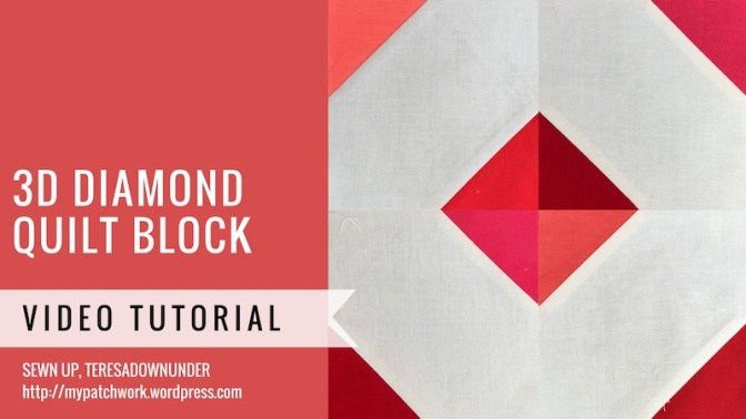 3D diamond quilt block video tutorial