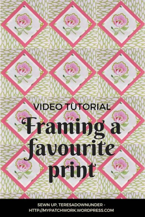 Framing a favourite print - video tutorial