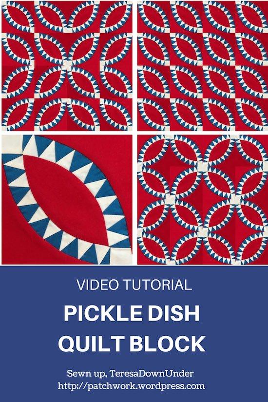 Video tutorial pickle dish quilt block