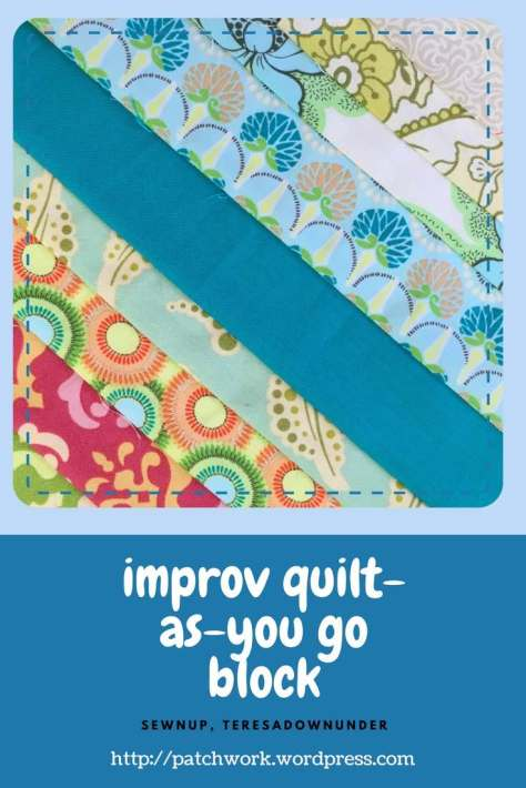Video tutorial: improv quilt as you go block