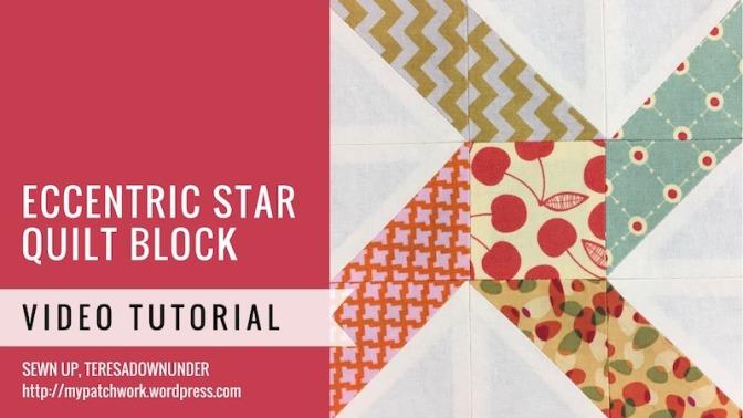 Block 19 – Eccentric star quilt block – Mysteries Down Under quilt