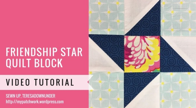 Block 9 – Friendship star quilt block – Mysteries Down Under quilt