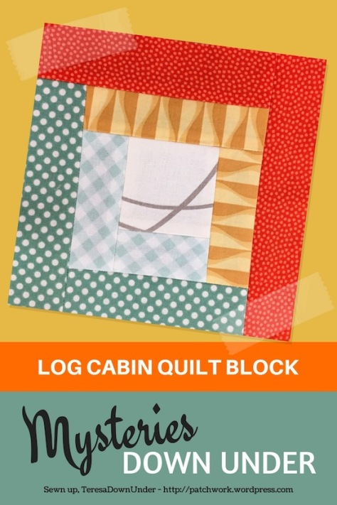 Log cabin quilt block - Mysteries Dpwn Under - video tutorial