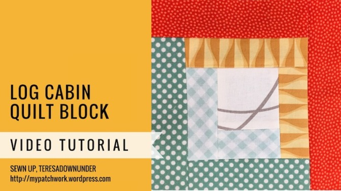Log cabin quilt block - Mysteries Quilt Block - video tutorial