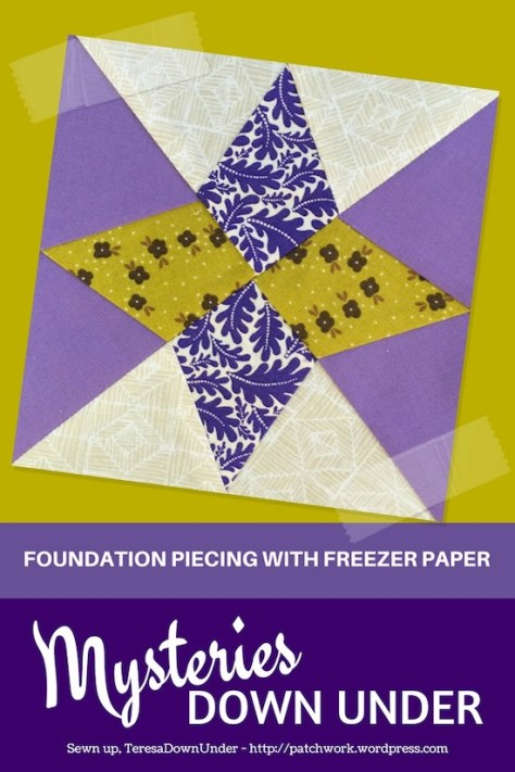 Mill and stars - Foundation piecing with freezer paper - Mysteries Down Under quilt - video tutorial