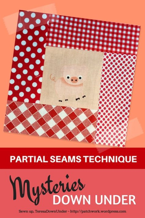 Video tutorial: partial seams technique - Mysteries Down Under quilt