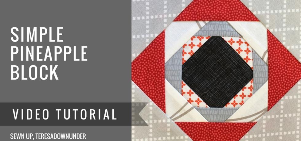 Video tutorial: simple pineapple quilt block