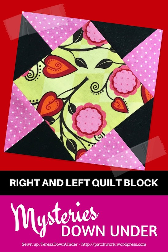 Video tutorial: right and left quilt block - Mysteries Down Under quilt