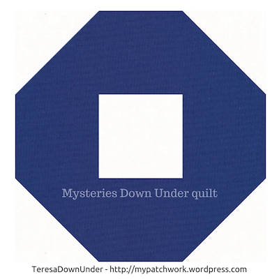 Snowball quilt block - Mysteries Down Under quilt