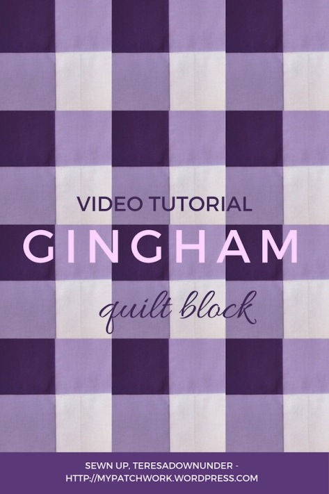 Gingham quilt block video tutorial
