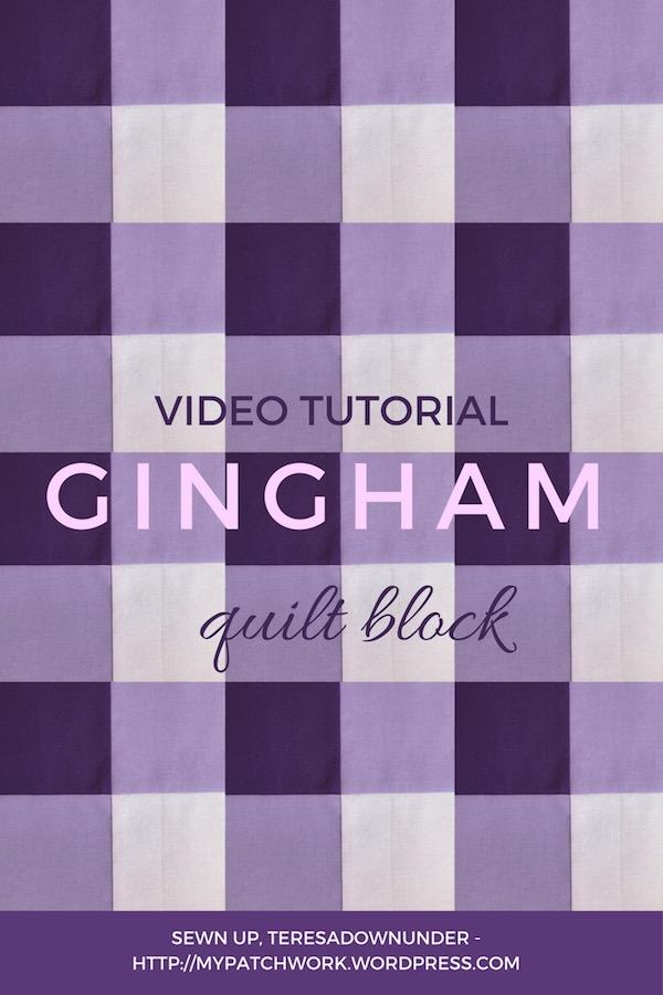 Gingham quilt block video tutorial
