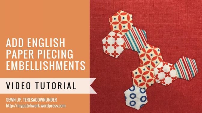 Embellishing with English paper piecing (EPP) video tutorial