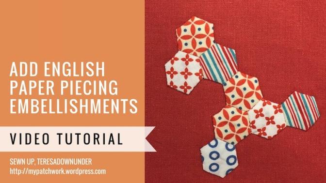 Embellishing English paper piecing (EPP)