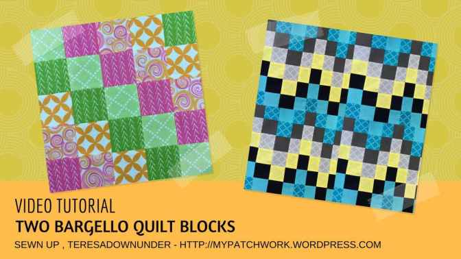 Video tutorial: 2 easy bargello quilt blocks