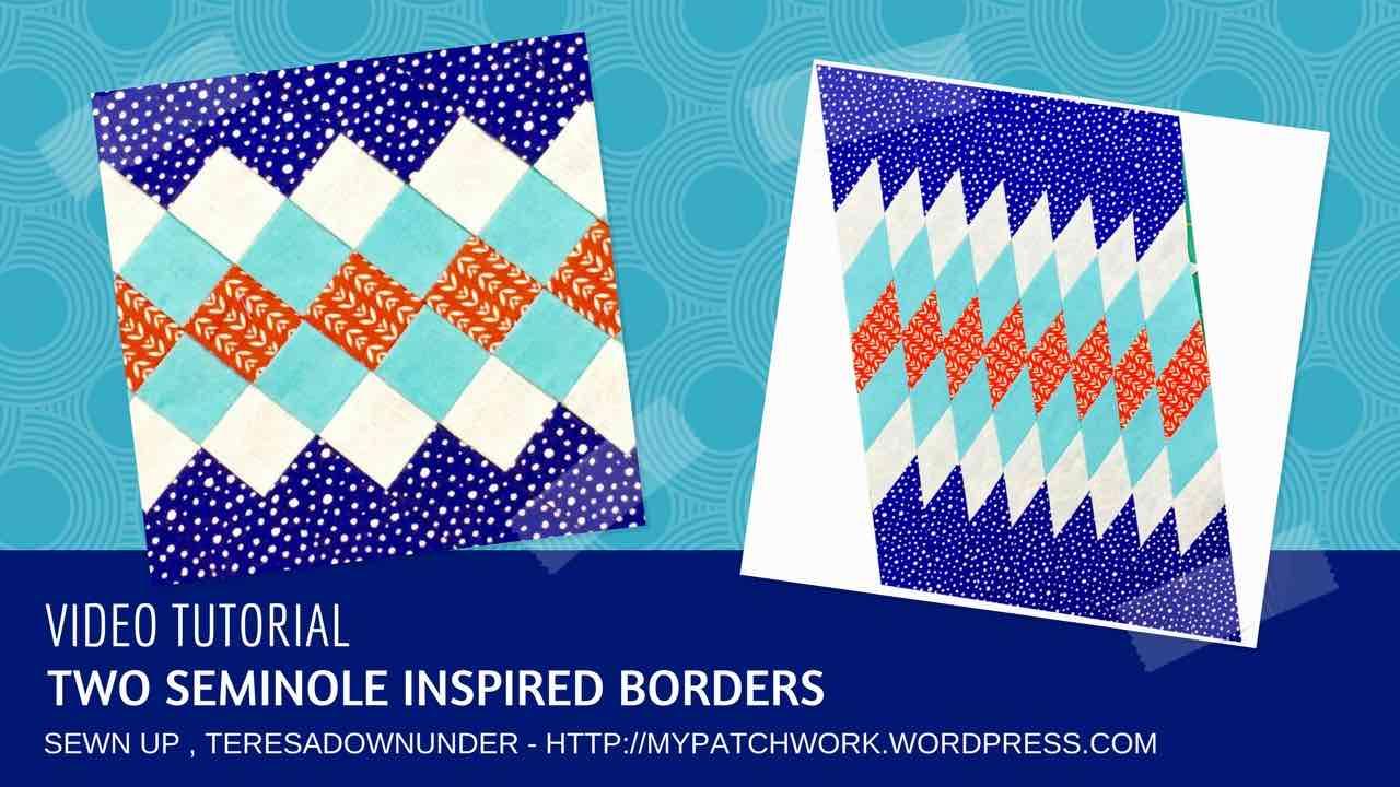 Video tutorial: Two seminole inspired borders