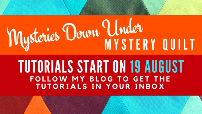 Mysteries Down Under quilt starts on 19 August