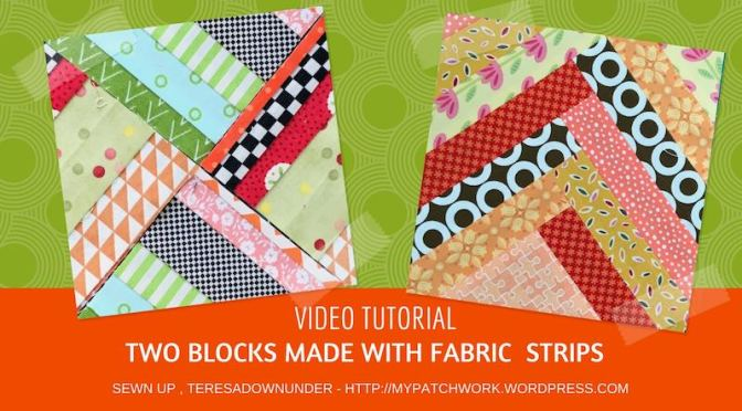 Two strip quilt blocks – video tutorial