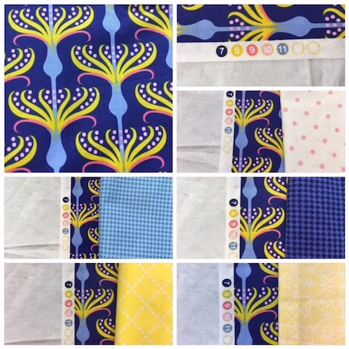 Mysteries Down Under quilt - choosing fabrics