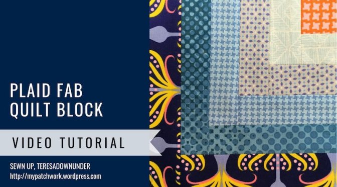 Block 20 – Quarter log cabin quilt block – Mysteries Down Under quilt