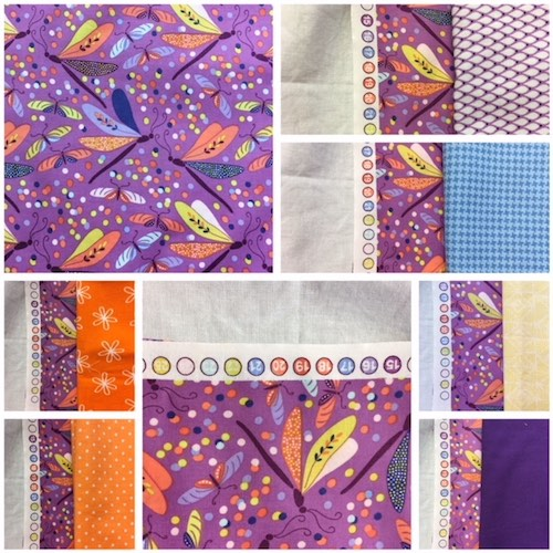 Mysteries Down Under quilt - choosing fabrics